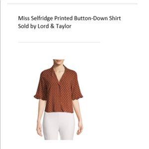 Miss Selfridge Crop button-down shirt